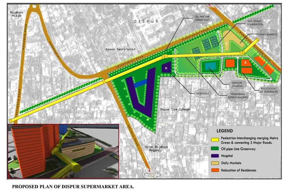 Dispur Supermarket and OIL pipeline Tract